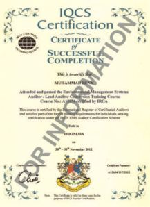 Audior ISO 14001 IRCA