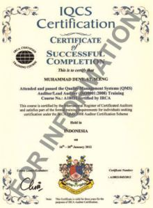 Audior ISO 9001 IRCA