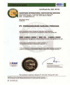 Sertifikat PSP ISO 14001
