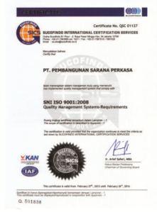 Sertifikat PSP ISO 9001
