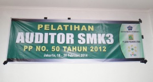 Pelatihan Auditor Eksternal SMK3