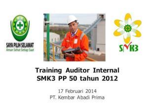 Training Auditor Internal SMK3