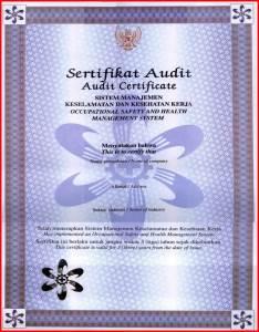 Sertifikat SMK3 PP 50 tahun 2012