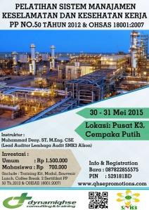 Pelatihan SMK3 PP 50 & OHSAS 18001 Jakarta