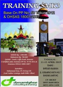Pelatihan SMK3 PP 50 & OHSAS di Lampung