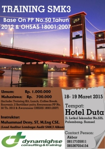 SMK3 PP 50 & OHSAS 18001 Palembang