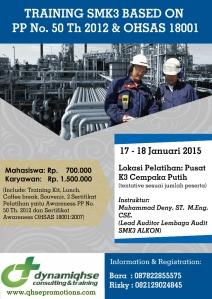 Pelatihan SMK3 PP 50 & OHSAS 18001