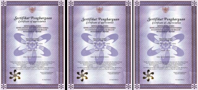 Sertifikat Emas SMK3