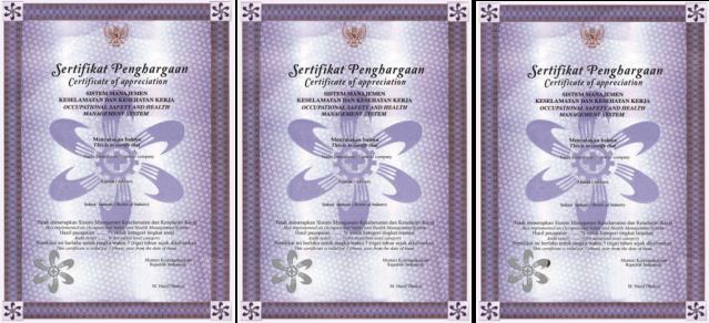 Sertifikat Perak SMK3