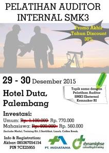 Pelatihan Auditor Internal SMK3 Palembang