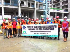 Foto bersama Staff K3, PT. Wijaya Karya