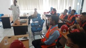 Presentasi dari tim HSE PT. Molten Alumunium Producer Indonesia